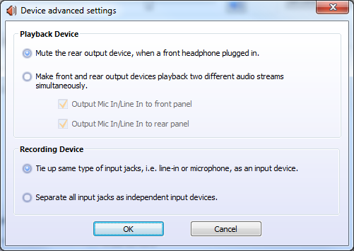 Realtek - Advanced Device Settings